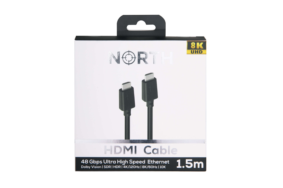 NORTH HDMI 2.1 Kabel Ultra High Speed 8K/60Hz, indpakning