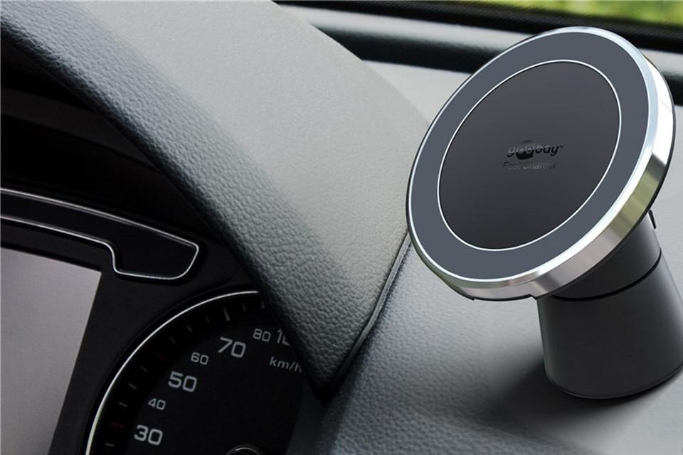 QI magnet smartphone beslag til bilen, dashboard