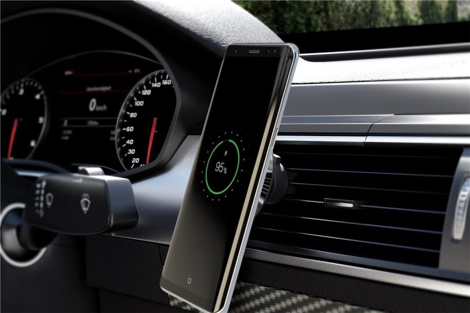 QI magnet smartphone beslag til bilen, opladning
