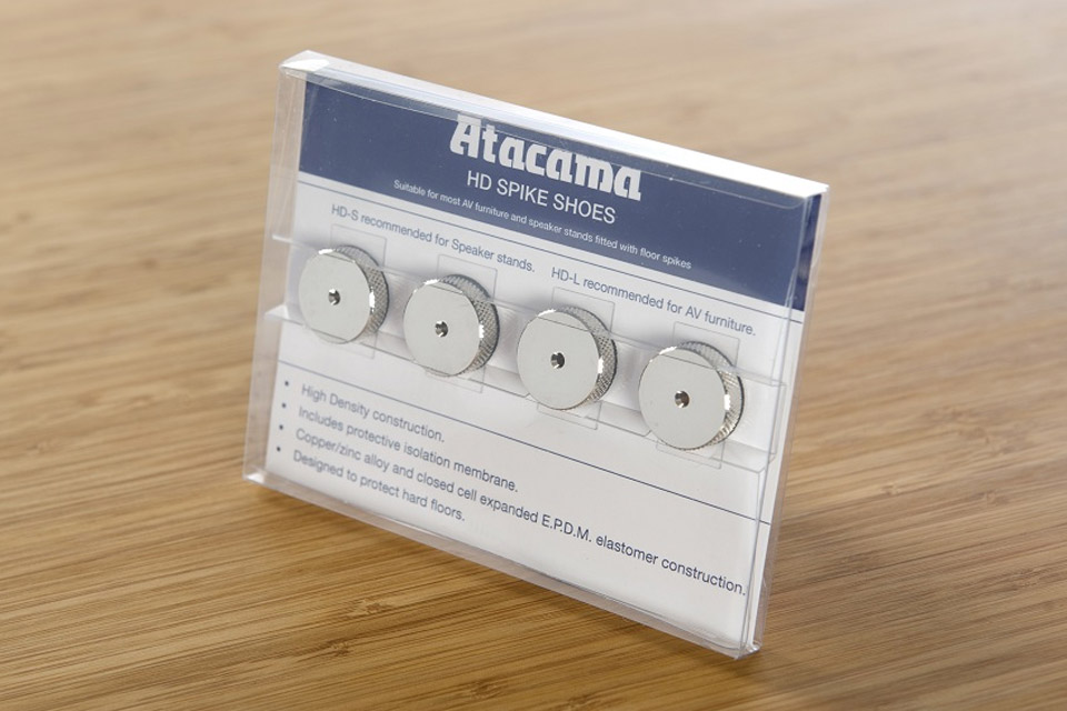Atacama Audio HD-L Spike plates/pads, nickel/silver, 4 pc  pack