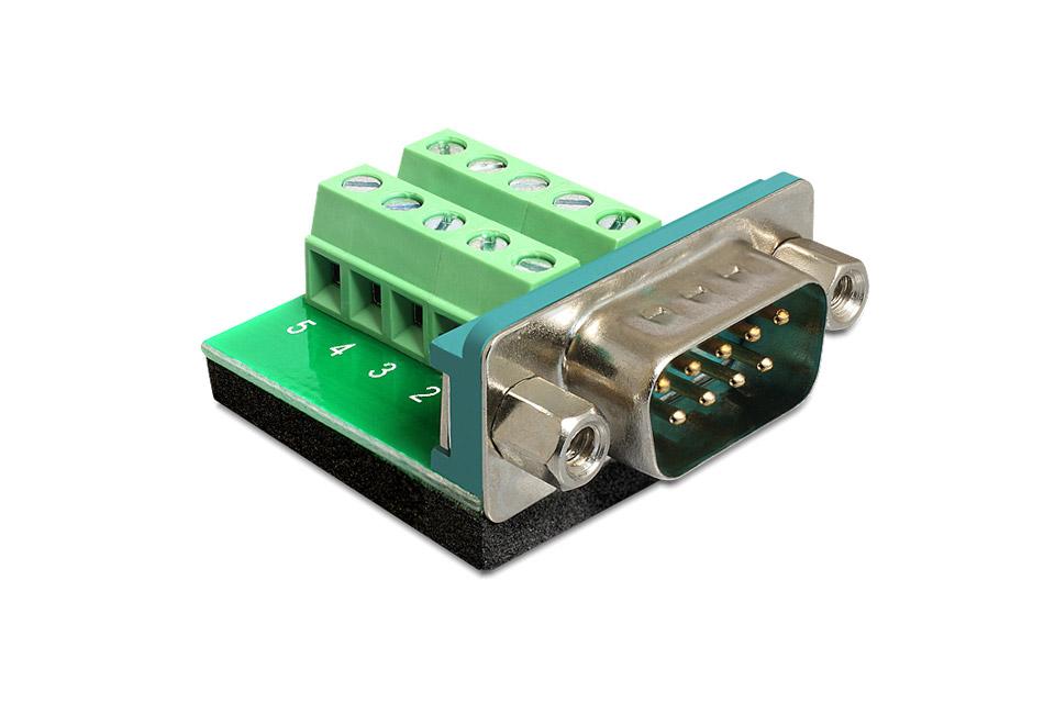 Sub-D 9-Pin han terminalblok