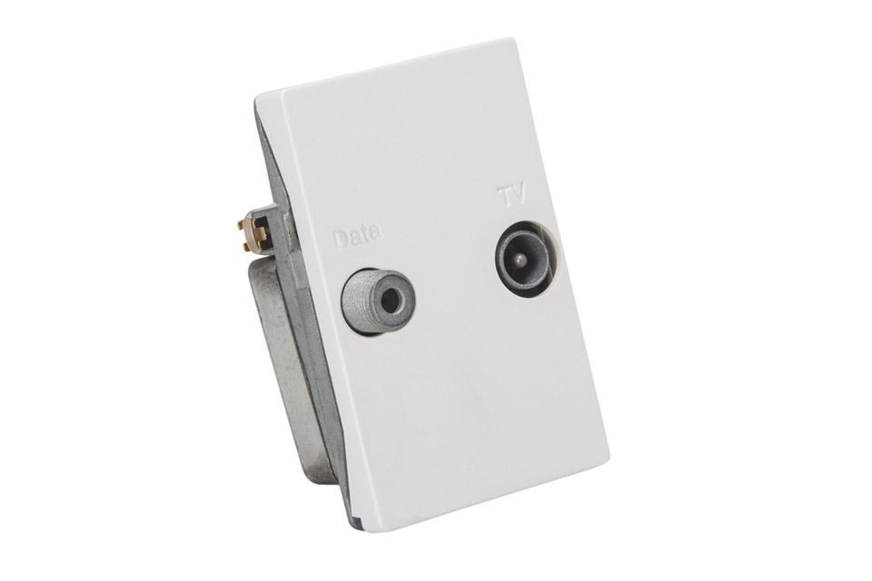 Triax TD241E FUGA TV og DATA tilslutningsdåse
