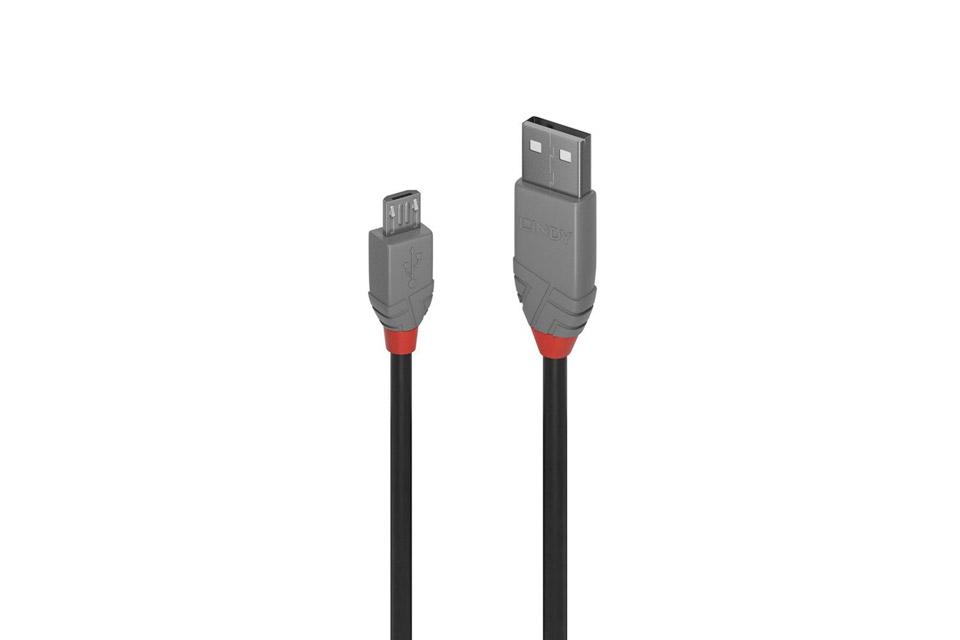 Lindy Anthra line USB-A til Micro-B kabel, USB 2.0
