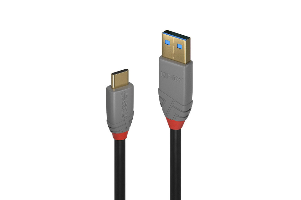 Lindy Anthra line USB-A til C 5A kabel