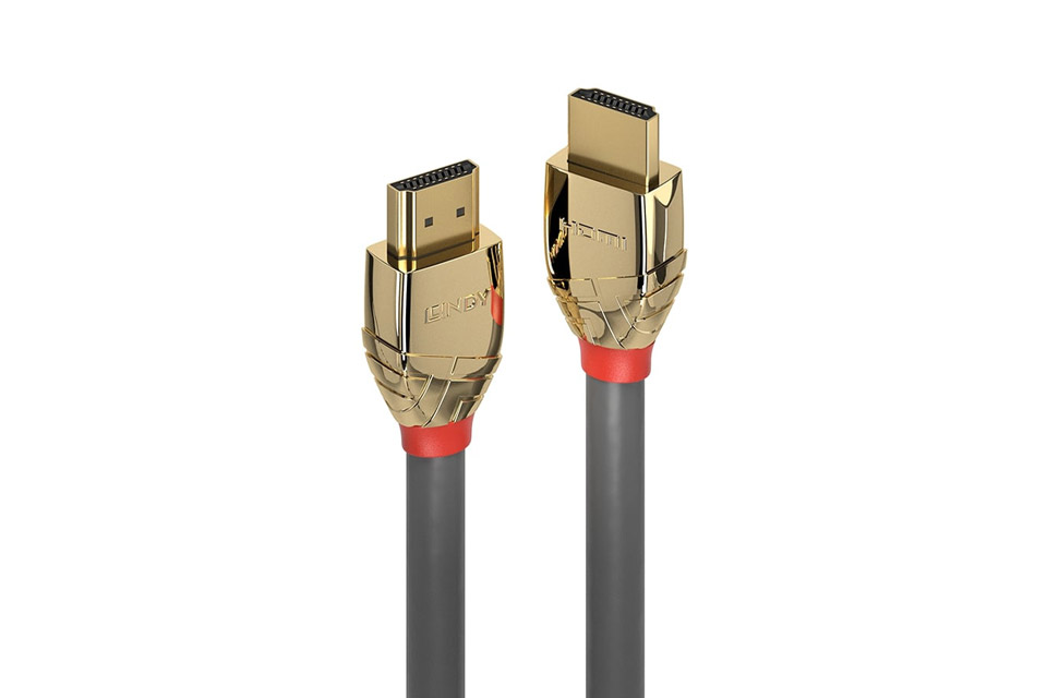 Lindy Gold HDMI kabel - Closeup