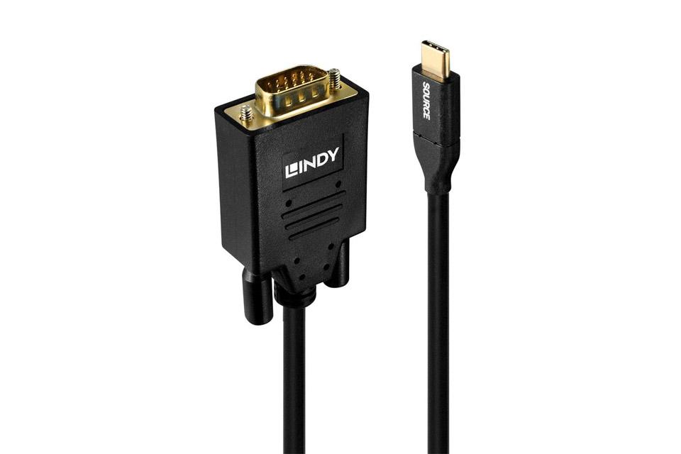 Lindy USB-C til VGA adapter kabel - Side