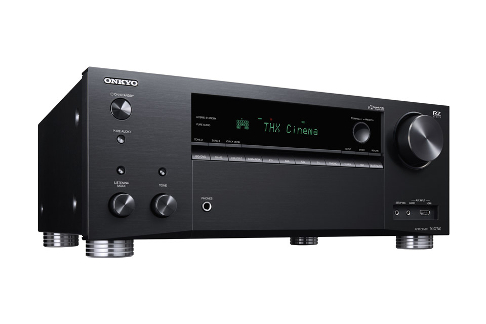 Onkyo TX-RZ740 surround receiver, sort