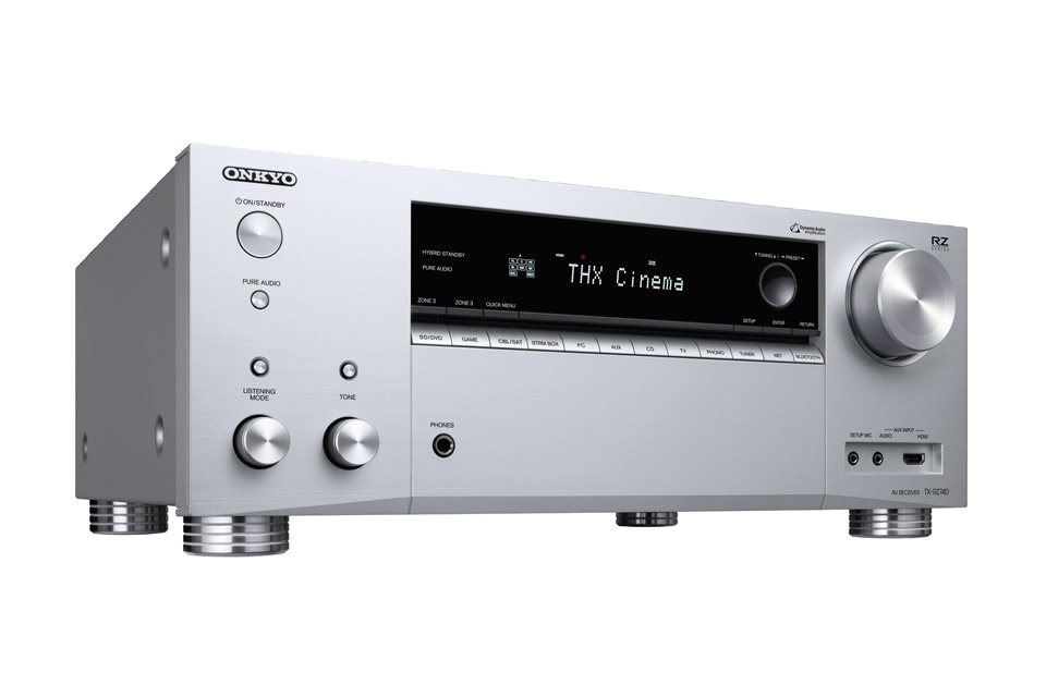 Onkyo TX-RZ740 surround receiver, sølv