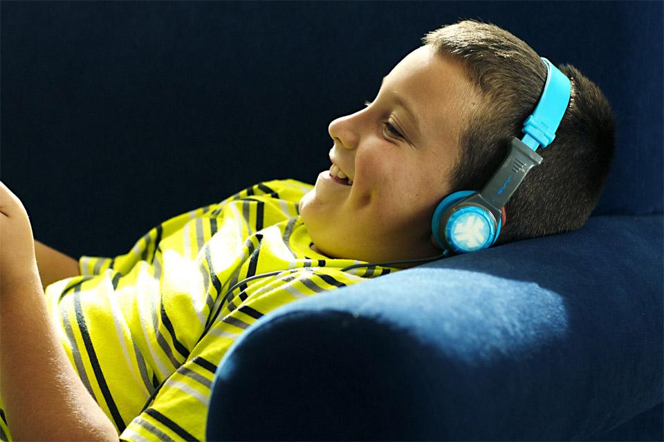 JLab Audio JBuddes kids headphone, blue