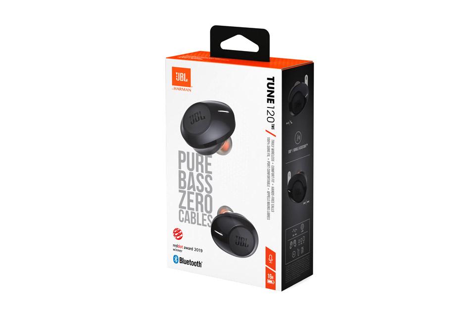 JBL TUNE 120 in-ear headphones, black