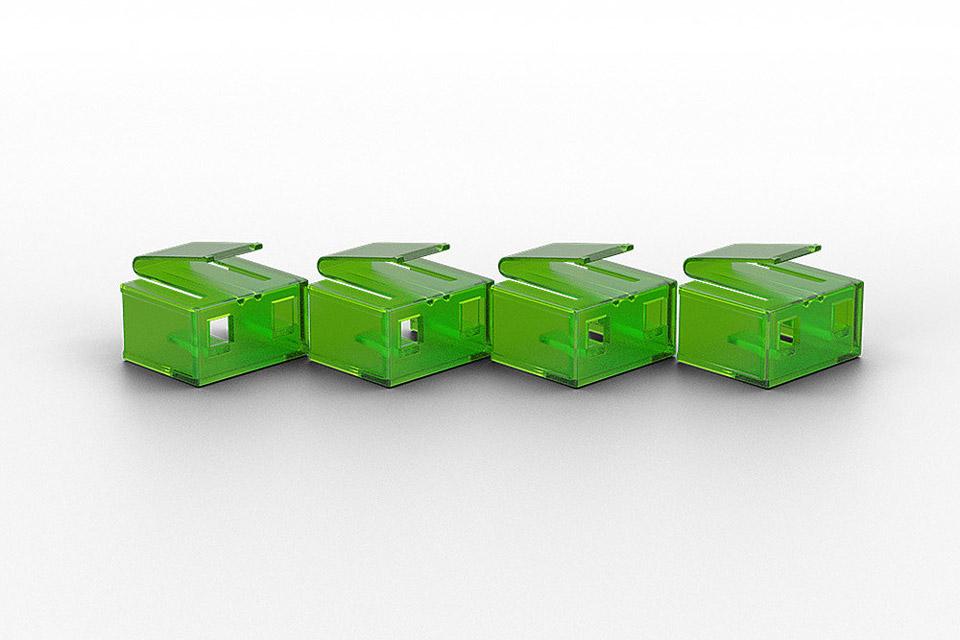 Lindy - RJ45 port blocker uden nøgle - Grøn