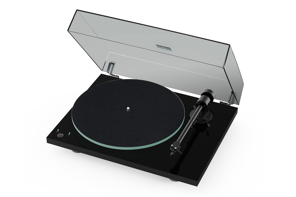 Pro-Ject T1 Phono SB turntable, black high gloss