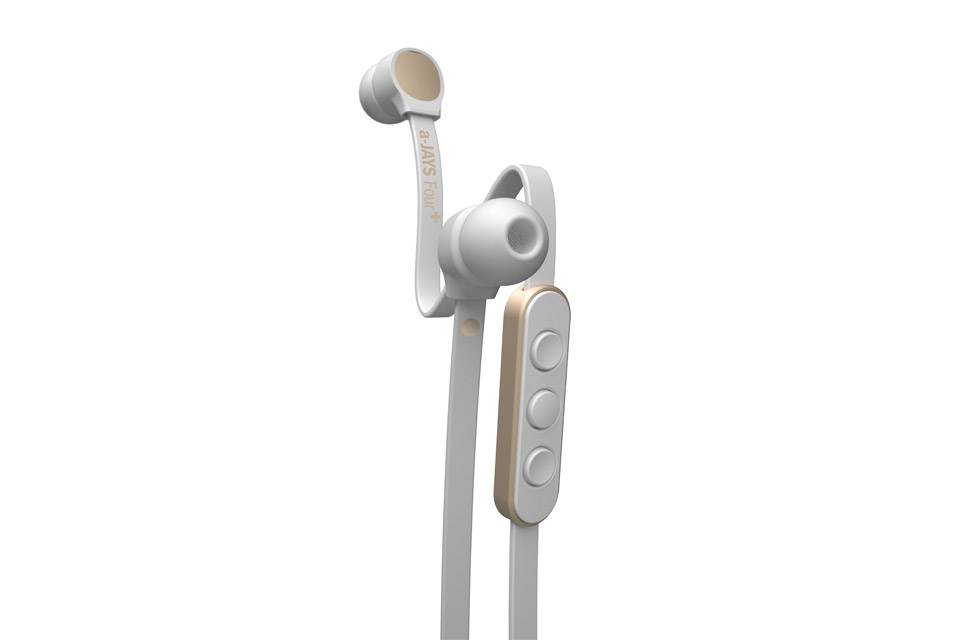 JAYS a-JAYS Four+ in-ear headphones, white/gold