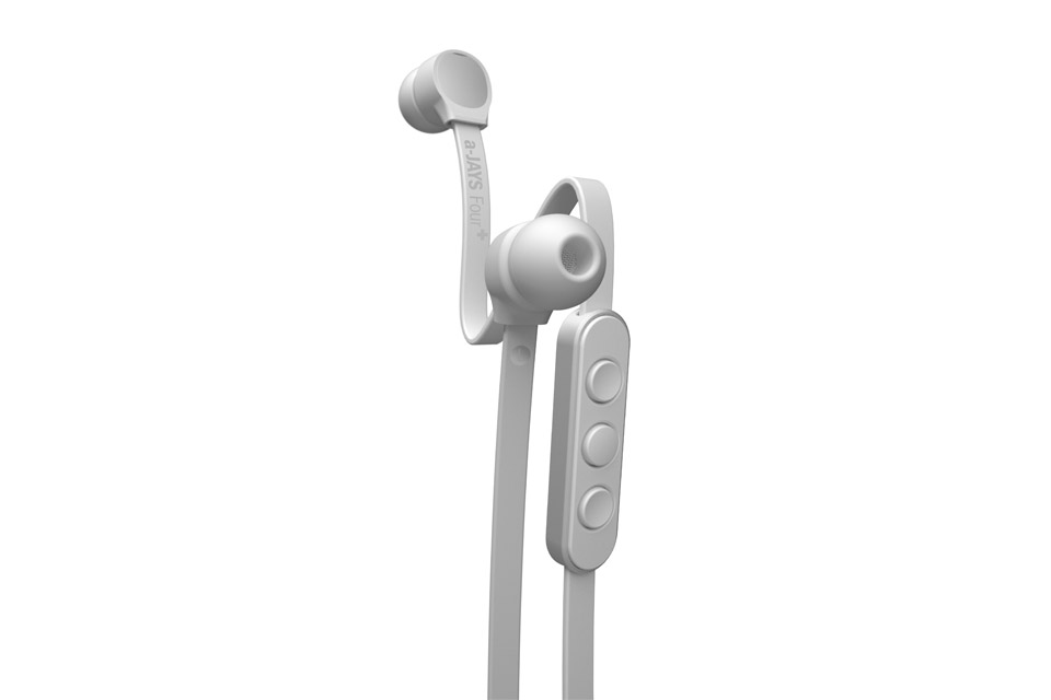 JAYS a-JAYS Four+ in-ear headphones, white/silver
