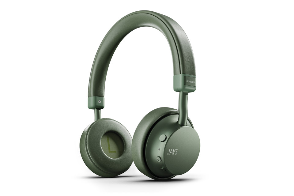 JAYS a-Seven wireless on-ear headphones, green