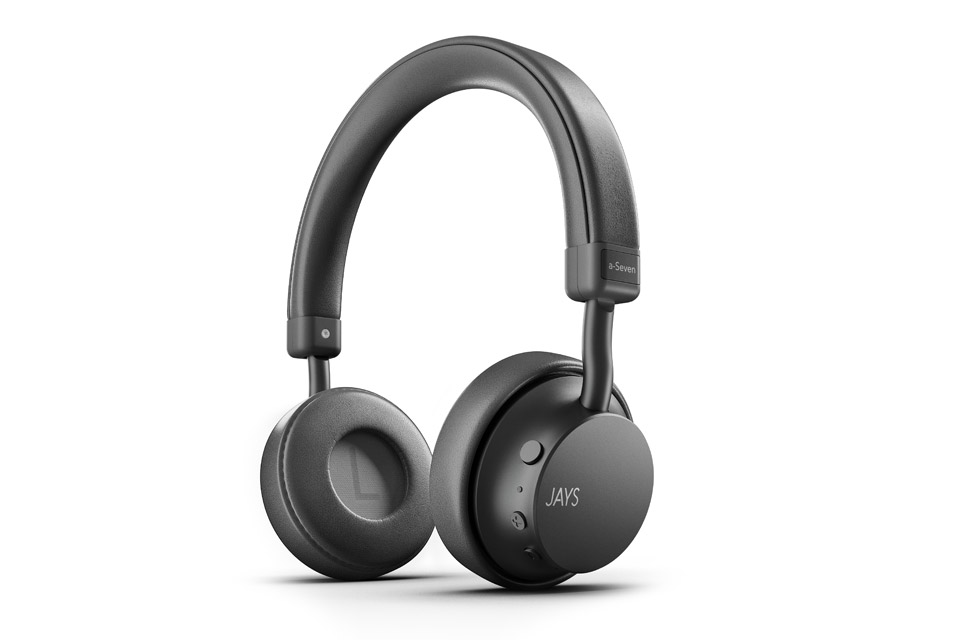 JAYS a-Seven wireless on-ear headphones, grey