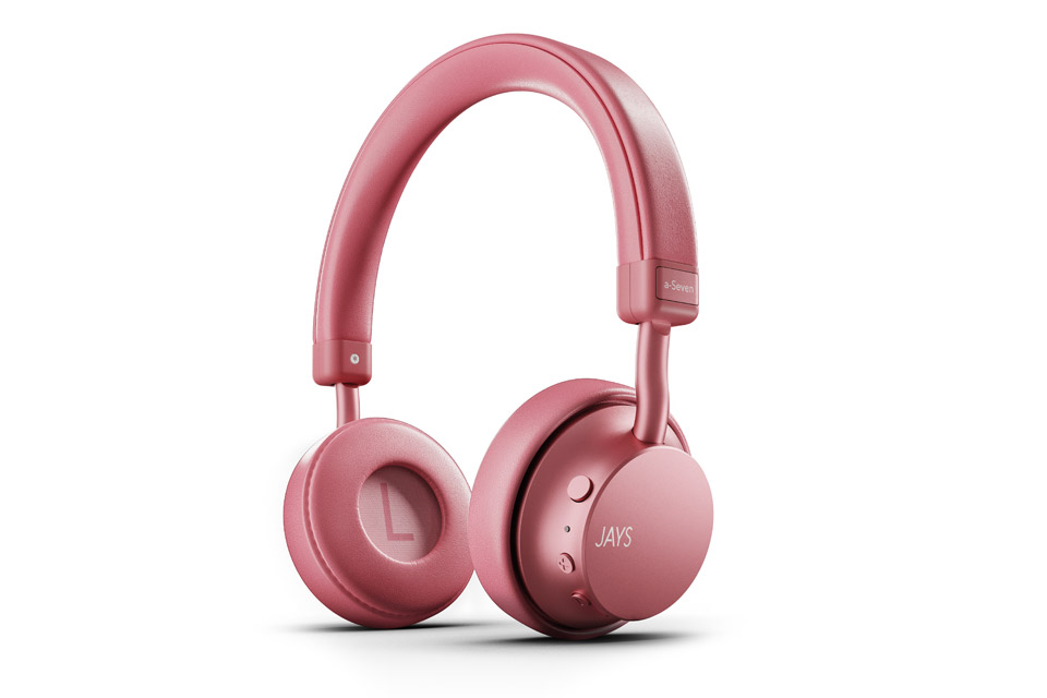 JAYS a-Seven wireless on-ear headphones, rose