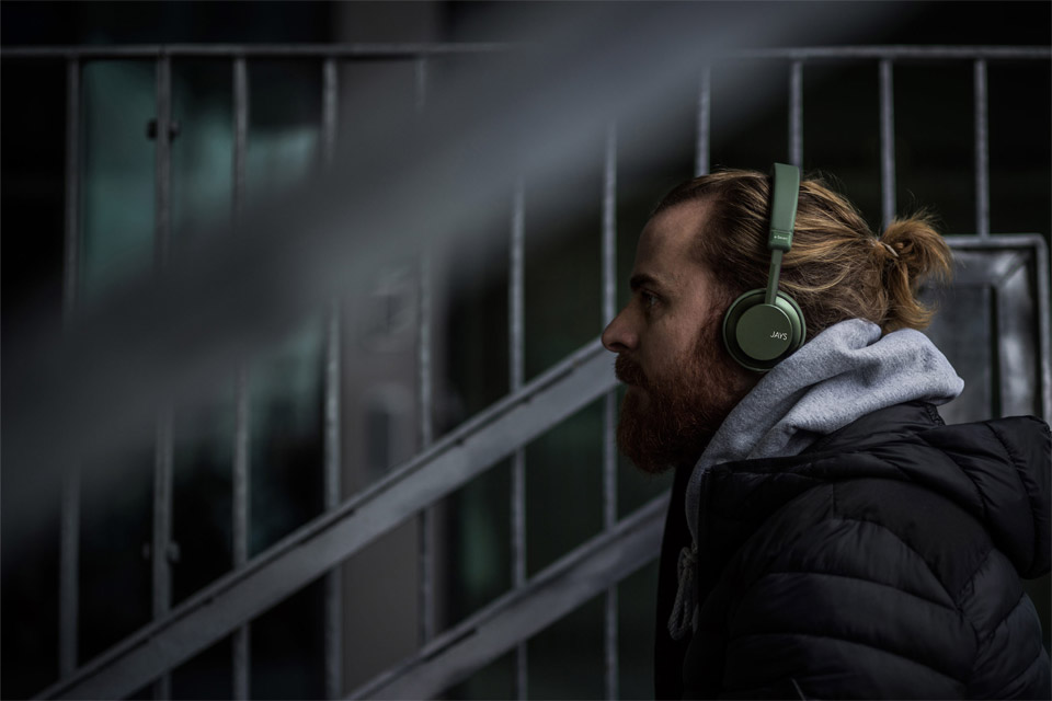 JAYS a-Seven wireless on-ear headphones, lifestyle