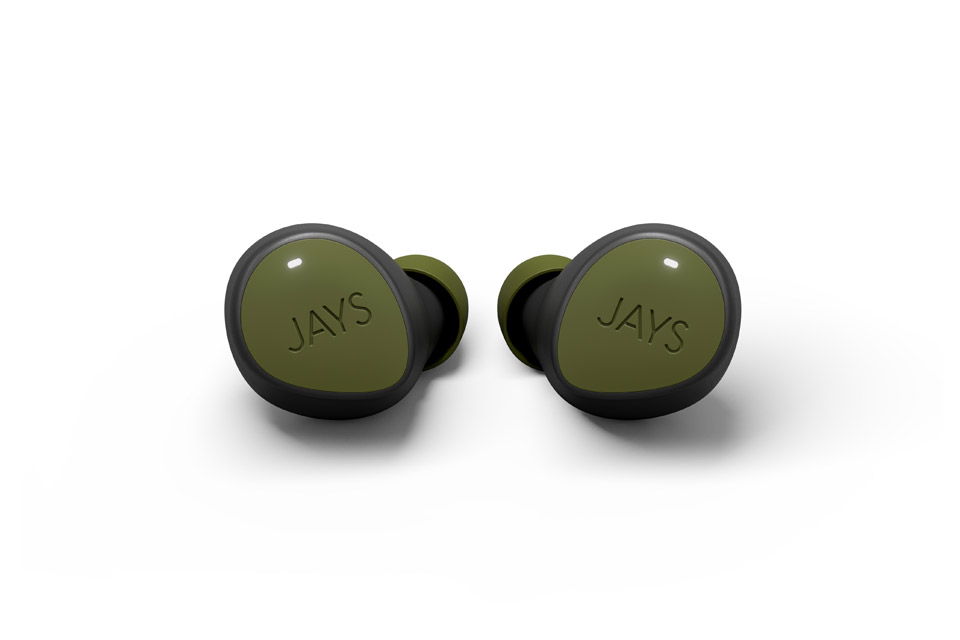 JAYS m-Seven True Wireless headphones, green