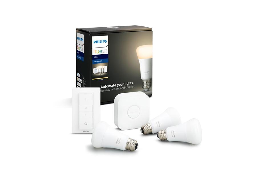 Philips Hue E27 White starter kit BT with bridge and dimmer