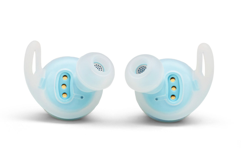 JBL Reflect Flow sports headphones back, teal