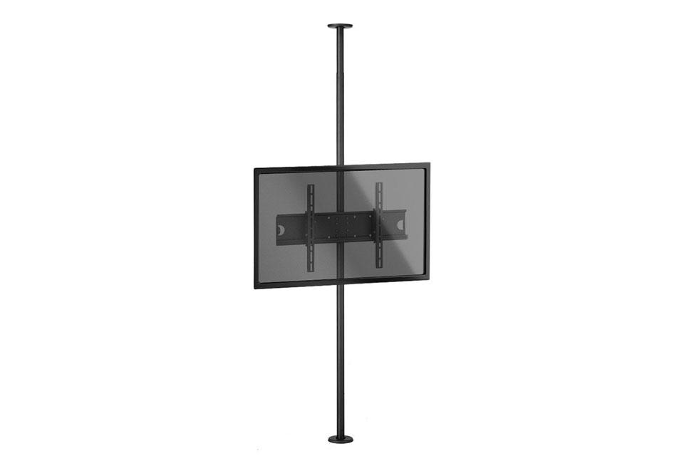 Lindy single display ceiling to floor mount
