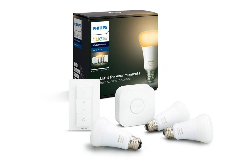 Philips Hue White Ambiance starter kit BT med dimmer