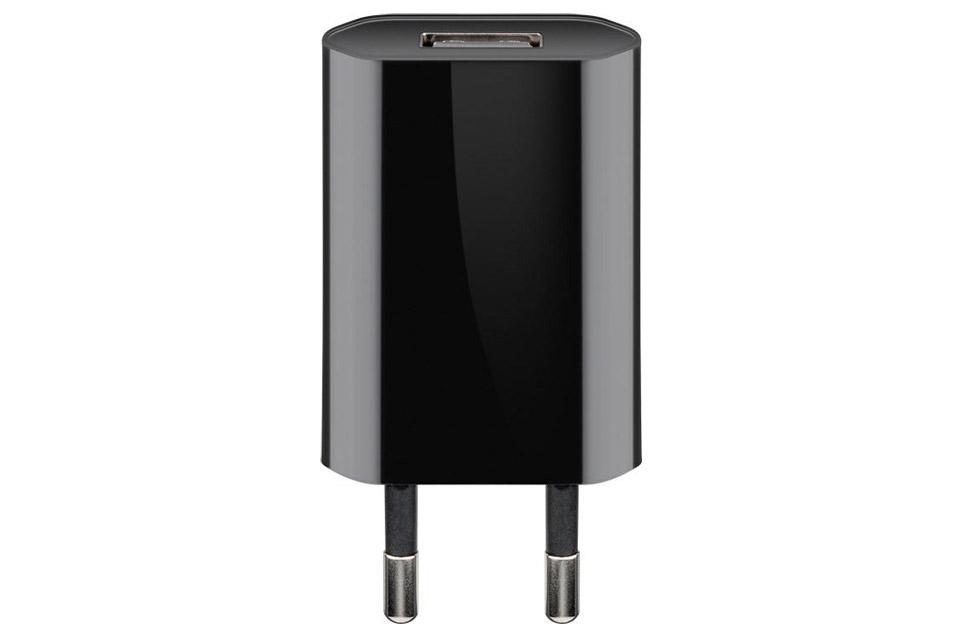 USB Oplader, sort