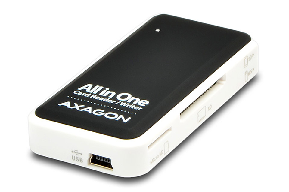 AXAGON CRE-X1 Multi card-reader for USB-A 2.0, 5-slot reader