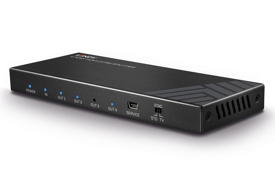 Lindy 4 Port HDMI 2.0 18G Splitter with HDR