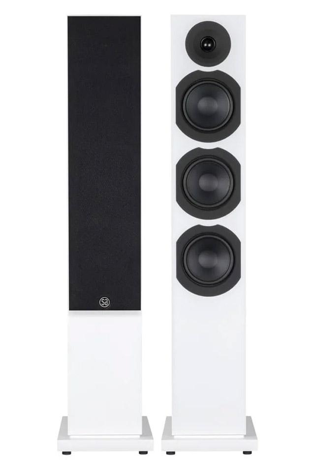 System Audio Saxo 60 floorstanding speaker, white satin