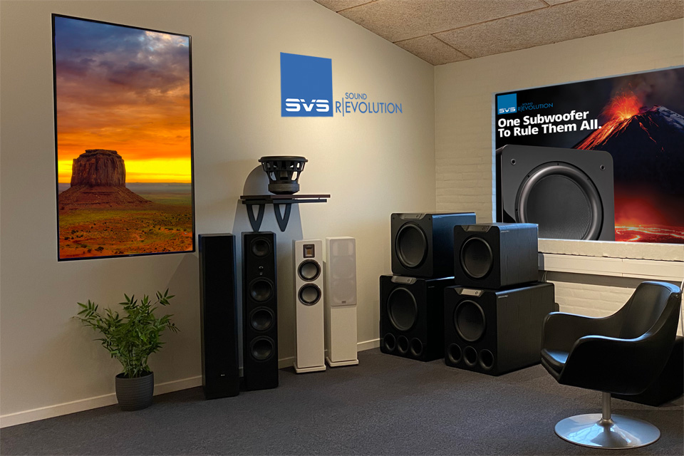 SVS Subwoofer område i AV-Connection Sønderborg