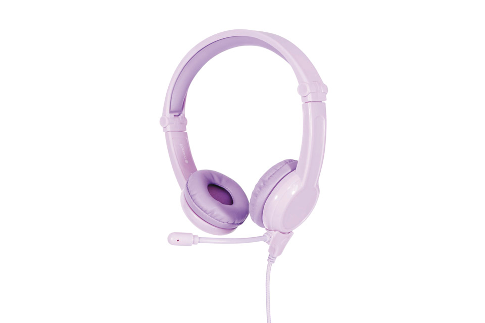 Buddy Phones Galaxy Gaming headphones, purple