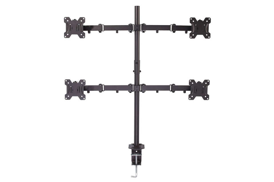 Lindy Quad Display Bracket with Pole and Desk Clamp