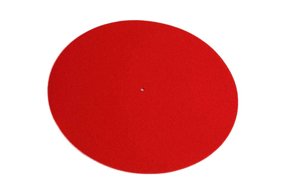 REGA Turntable wool mat - Red
