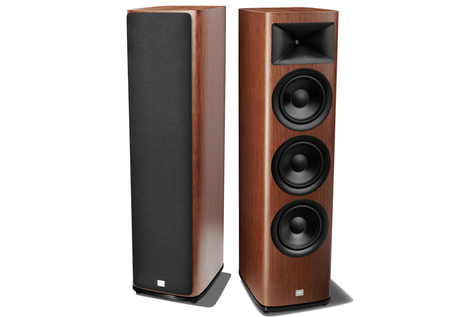 JBL Synthesis HDI 3800 floor loudspeaker - Walnut front