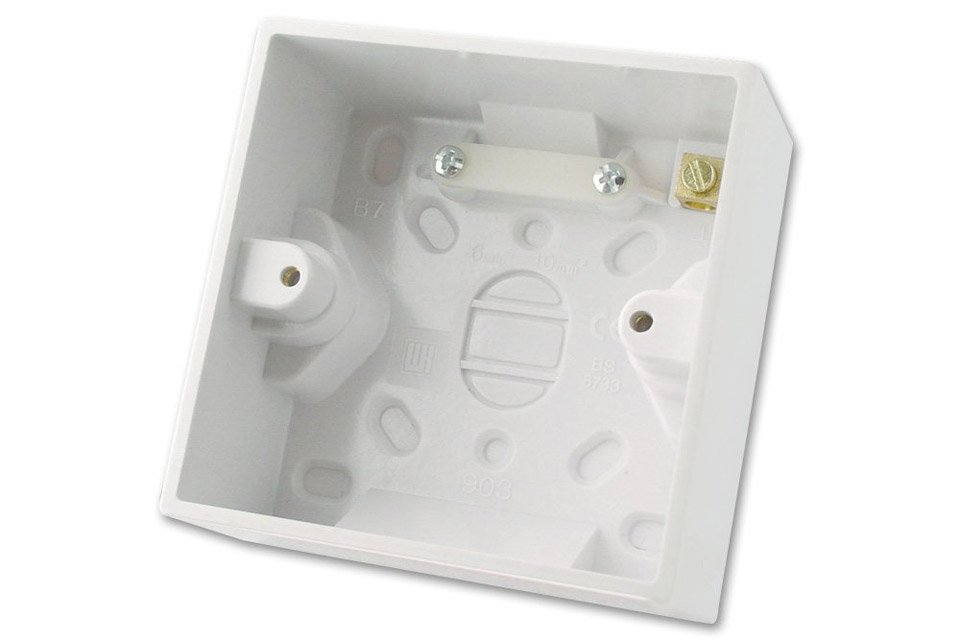 Lindy EURO wall plate surface box, single, depth 44mm