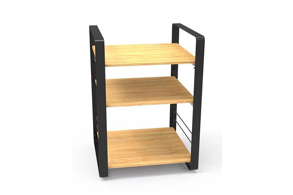 NorStone Loft Central base module, 3 shelfs, bamboo/black chassis