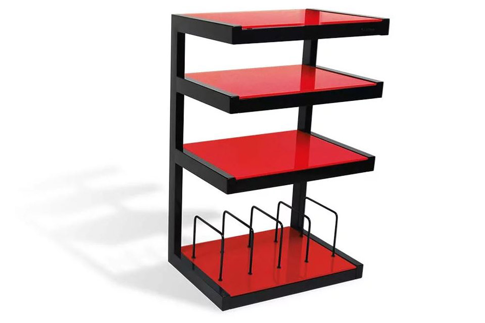 NorStone ESSE HIFI Vinyl base module, 4 shelfs - Red