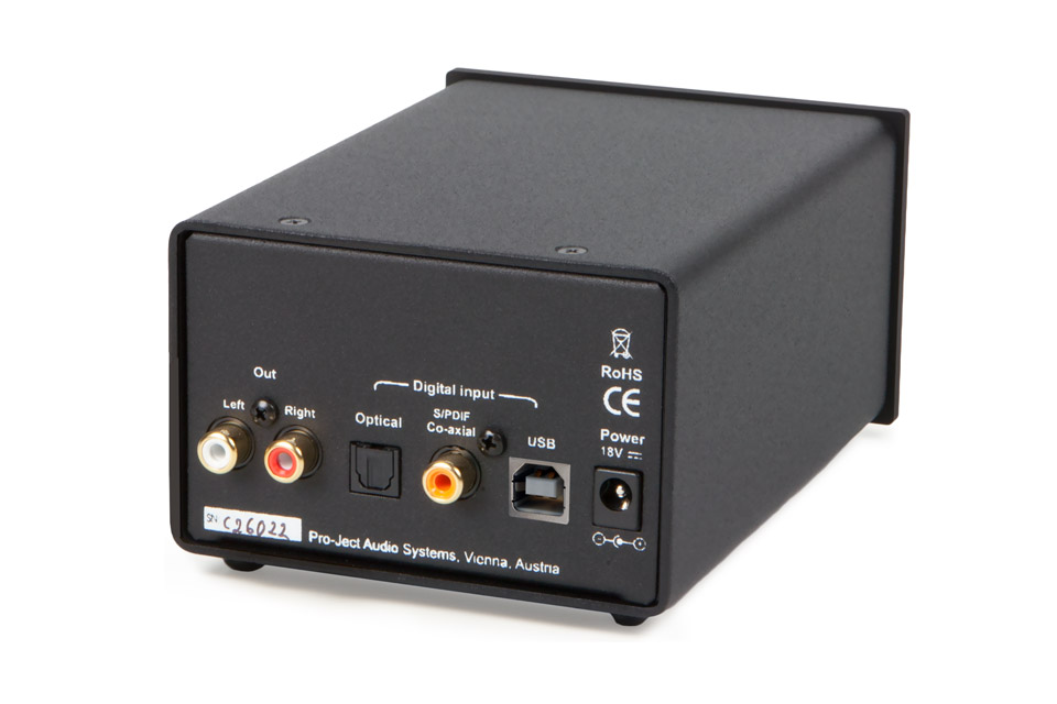 Pro-Ject DAC BOX DS back, sort