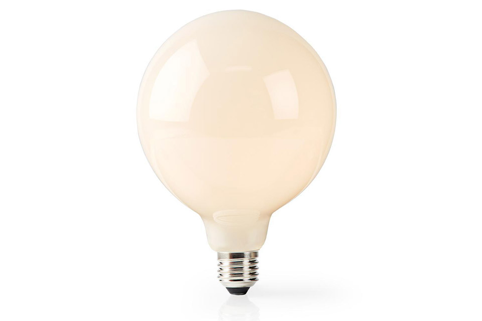 SmartLife E27 LED 125 mm matte glass bulb, 5W, 2700K