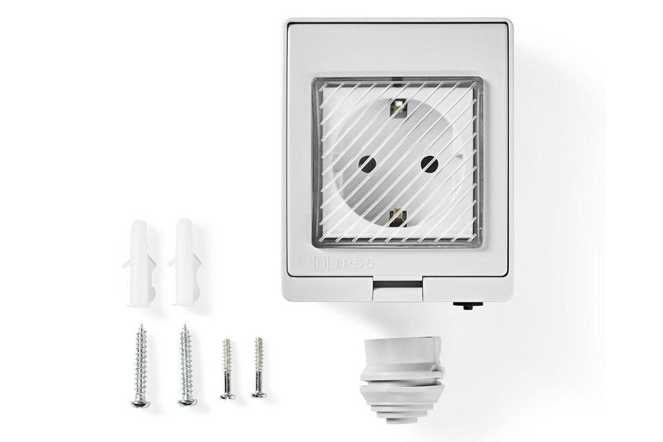 SmartLife Wi-Fi outdoor plug, waterproof (IP55) - Content