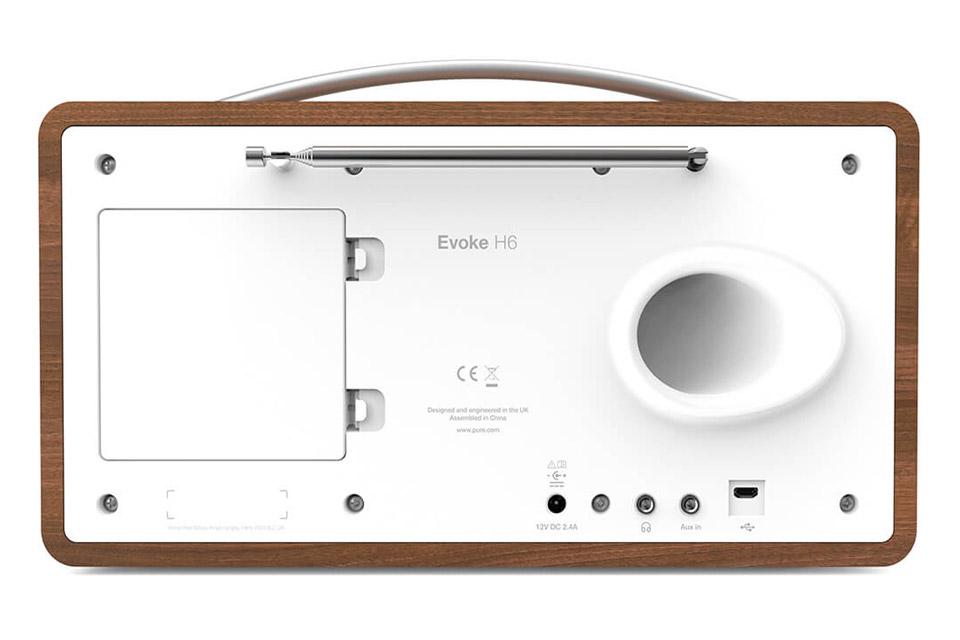 Pure Evoke H6 DAB+ radio - Walnut back