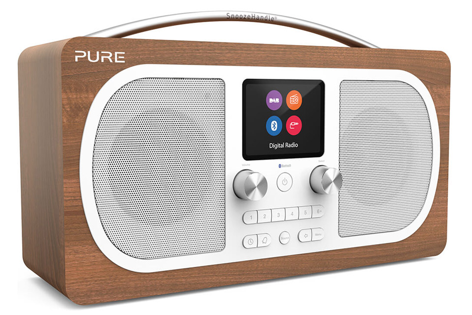 Pure Evoke H6 DAB+ radio - Walnut front