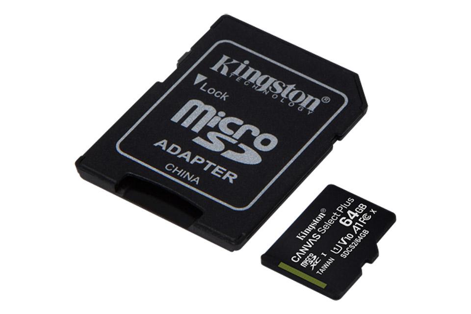 Kingston Canvas Plus microSD(SDHC) card - 64 GB