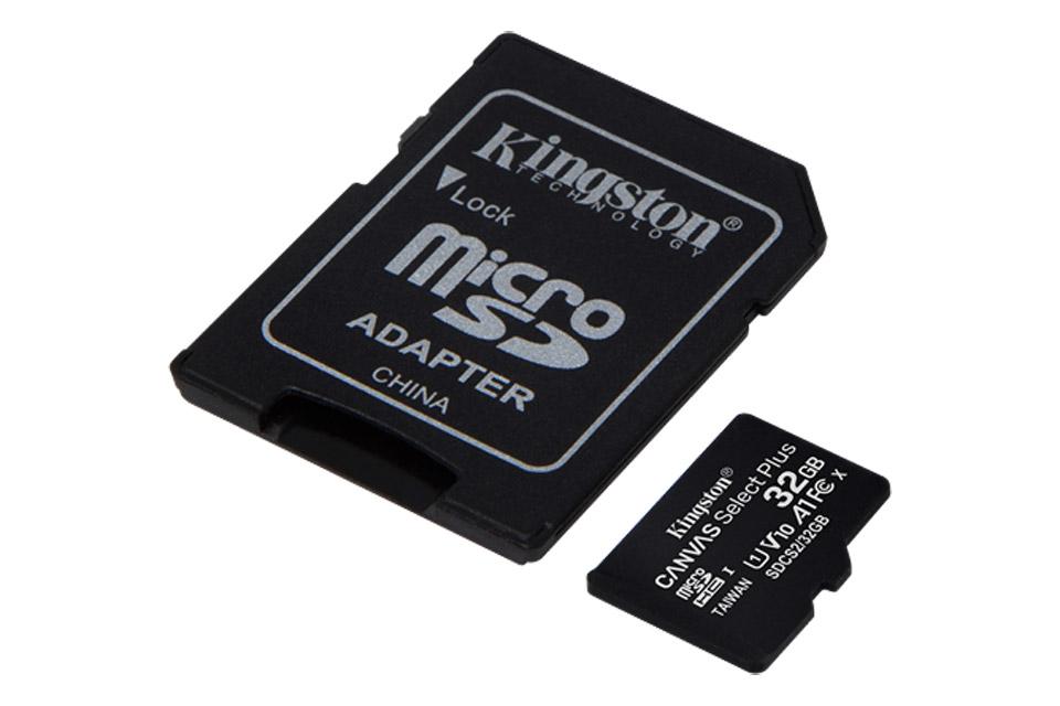 Kingston Canvas Plus microSD(SDHC) card - 32 GB