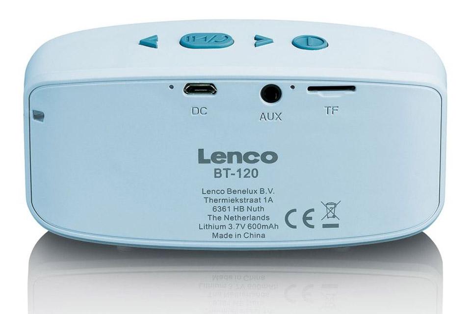 Lenco BT-120 Bluetooth speaker with Micro SD card slot - Blue back