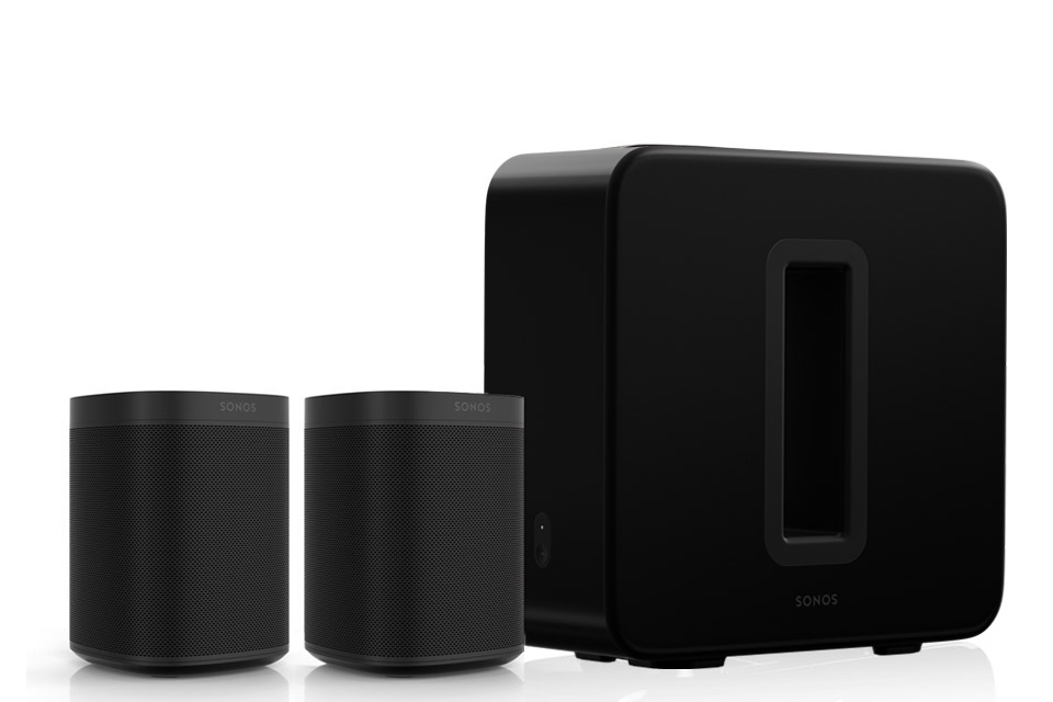 SONOS 2.1 system, dual Sonos One incl. Sub, black