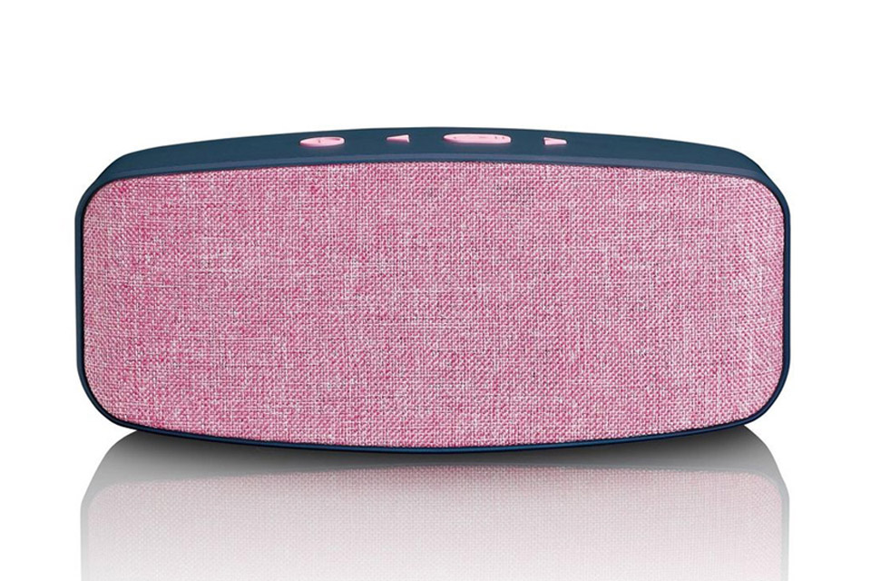 Lenco BT-130 Bluetooth speaker with Micro SD card slot - Pink front
