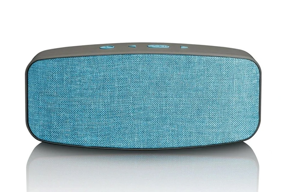 Lenco BT-130 Bluetooth speaker with Micro SD card slot - Blue front